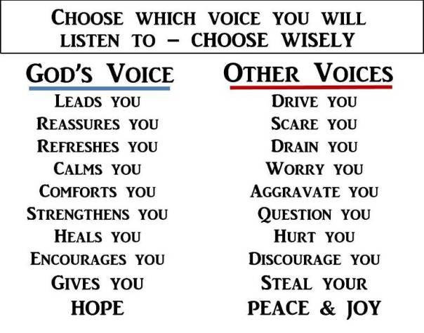 gods voice vs other voices